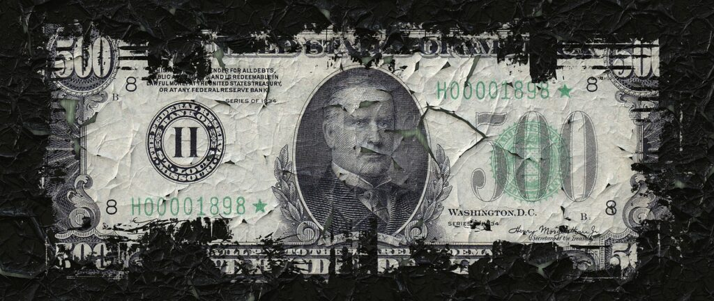 500 dollar bill, it's all about the money